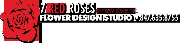 Seven Red Roses Flower Design Studio